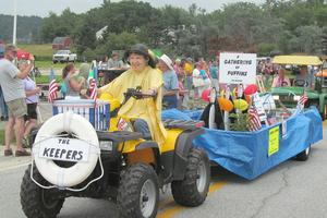 Floats in the Brooksville Day parade