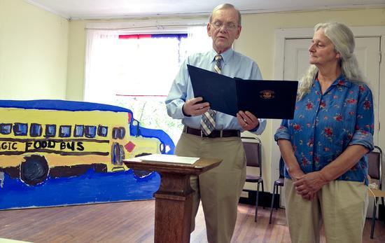 Margaret Bixby receives grange award