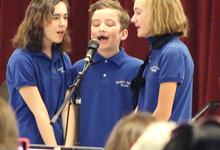 Brooklin School Band vocalists