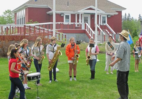 Brooklin School Band performs