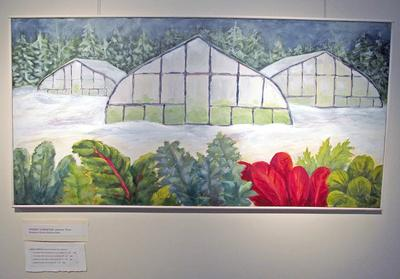 Sherry Streeter's greenhouse paintings