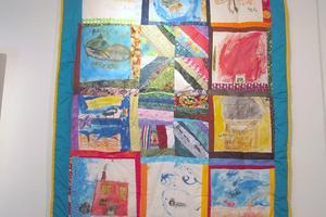 Art show features Brooksville students' quilt