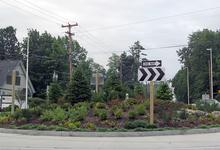Blue Hill Roundabout is weed free