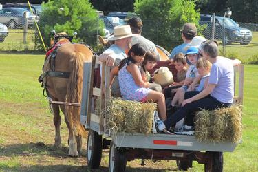 A hay ride at St. Francis by the Sea Episcopal Church's annual fair