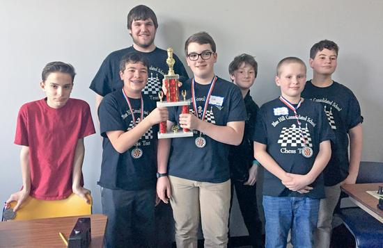 The BHCS chess team places 2nd in state tournament
