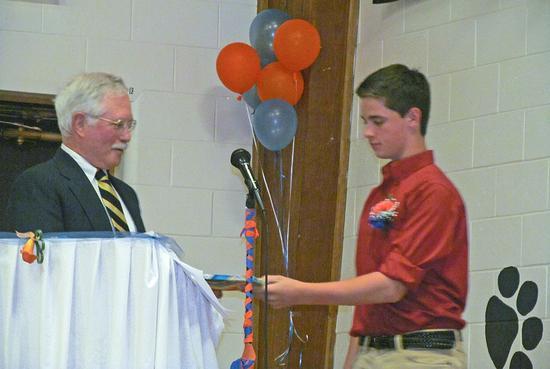 Sam Payson, at the Brooksville 2014 graduation