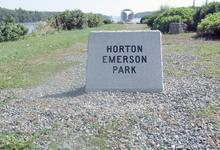 A new sign for a Blue Hill Park