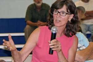 Maggie Williams of Penobscot is concerned about the effect of aquaculture on the Bagaduce River sea