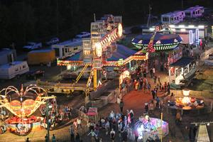 The midway comes alive at night