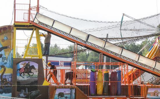 Blue Hill Fair ready to go, just add crowds
