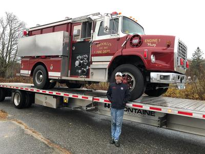 A fire truck for Marsh Harbour