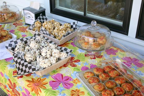 Popcorn balls and baked goods