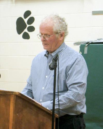 Moderator Bob Vaughan