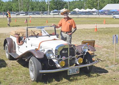 sedgwick car show roars into blue hill fairgrounds community news motorcycle wiring harness a 1929 mercedes replica