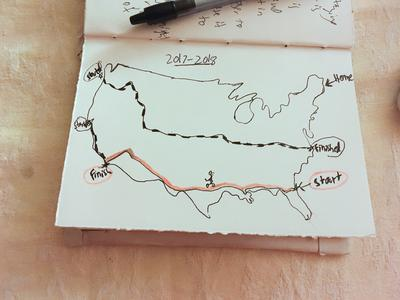 Hand-drawn map