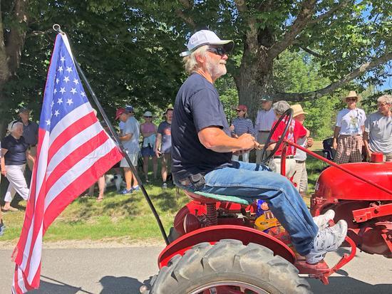 Patriotic tractor