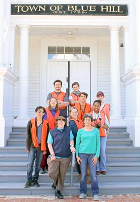 Blue Hill Harbor School students map historical buildings