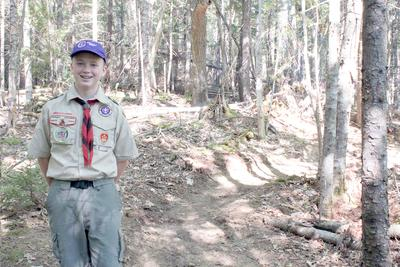 Blue Hill eighth grader building new trail