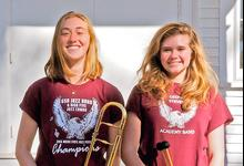New members of the All-State Honors Jazz Band