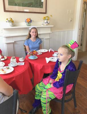 Alice in Wonderland-themed children's tea