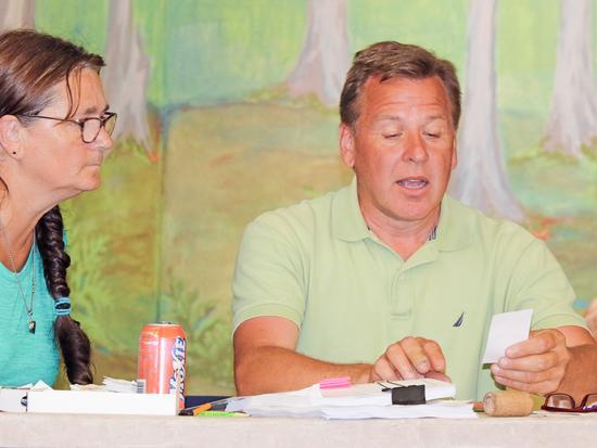 Special town meeting moderator Scott Miller