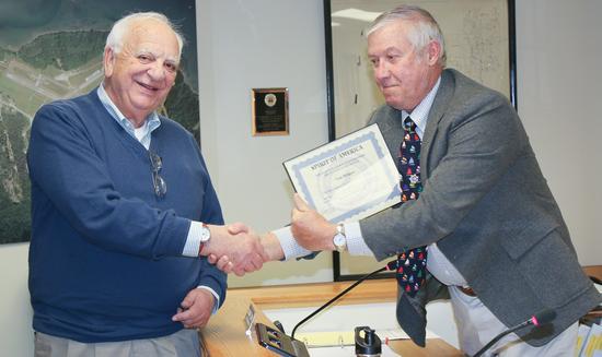 Town Treasurer Tom Welgoss
