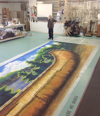 Canoe mural