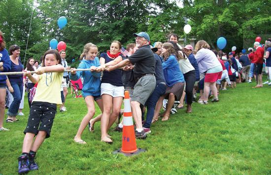 A past July 4th celebration in Castine