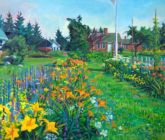 Hoy painting donated to Maine Farmland Trust