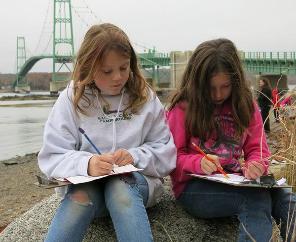 Maine students draw inspiration from the Deer Isle-Stonington Bridge