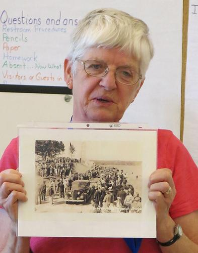 Connie Wiberg, granddaughter of the last ferryman between Deer Isle and Stonington, Maine