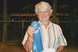 Peggy Wood won the blue ribbon
