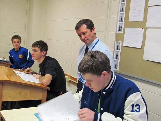 Education Commissioner Stephen Bowen at Deer Isle-Stonington High school
