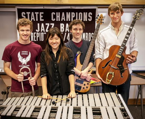 Four George Stevens Academy students were accepted to the All-State Jazz Festival