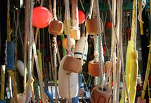 Buoys and floats at Eaton's Boat Yard