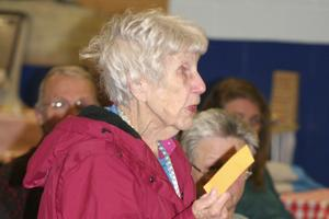 Blodgett speaks up for Penobscot Day celebration at the Penobscot, Maine 2014 town meeting