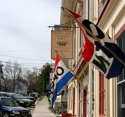 Main Street, Castine, is open for business