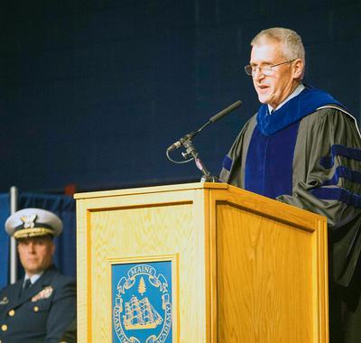 Maine Maritime Academy honors VP John Barlow