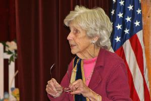 Castine Grange Master Carolyn Blodgett