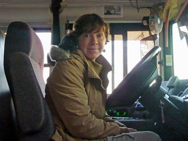 Adams School bus driver Renee Paulauskas