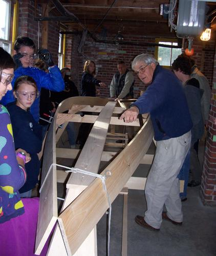 Adams School Students Learn Carpentry And Physics In Boat