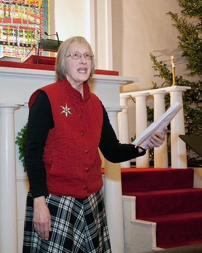 Johanna Sweet at Castine Artist's Association Christmas Celebration