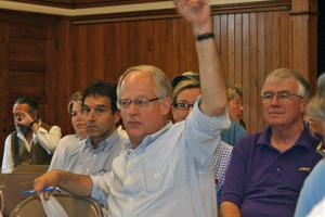Jim Goodson at Castine Town Meeting