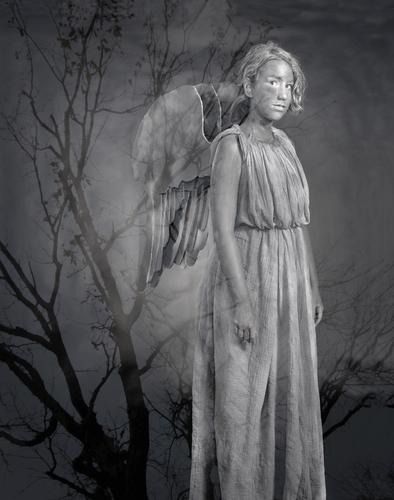 "Hannah Flood portrays a ""Weeping Angel"""