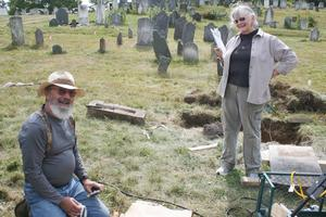 Orland Bean and Donna-Mae Bean, of Gravestone Concerns