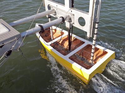 The trimaran lobster boat design
