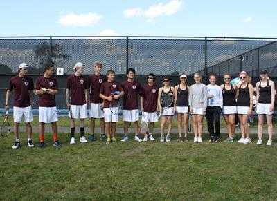 The GSA Eagles boys and girls tennis teams