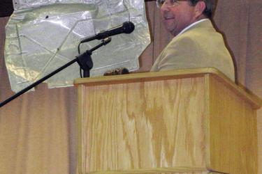 Moderator Sherman Hutchins