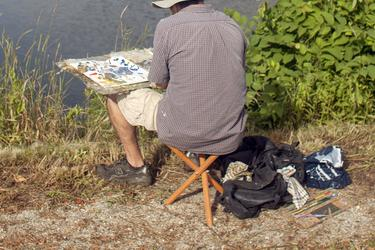 Josh Adam at the Castine Plein Air Festival