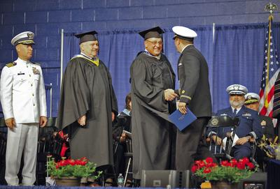 Governor LePage at MMA's 70th commencement ceremony